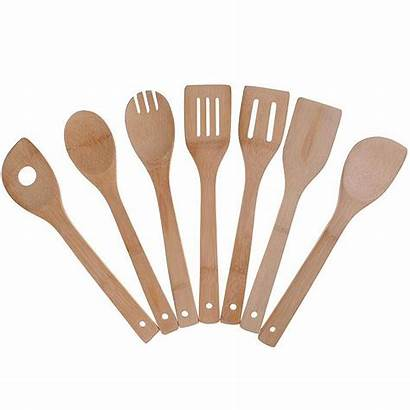 Utensils Cooking Bamboo Kitchen Wooden Spoons Spatula