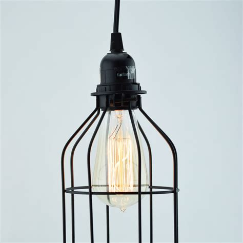 bottle shaped vintage edison light bulb cage for pendant