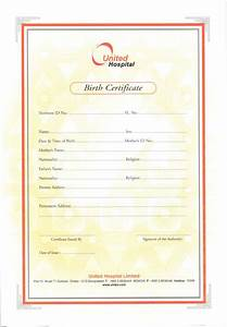 Hospital Medical Certificate Format Birth Certificate United Hospital