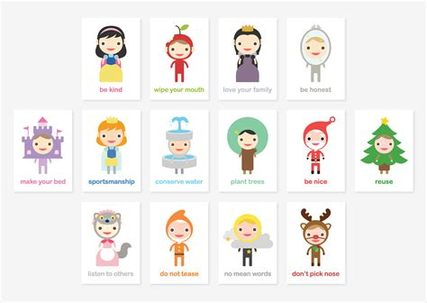happy manners card set   good manners learning educational flash cards kids wall art