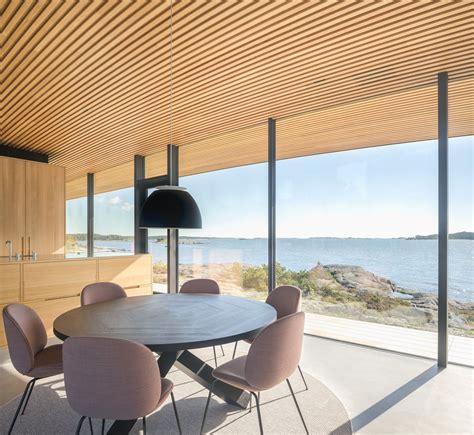 modern sea front summer glass house  finland idesignarch interior design architecture