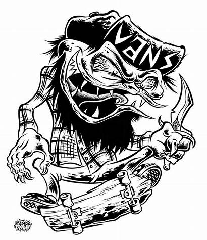 Vans Kustom Drawing Dirty Graphics Illustration Donny