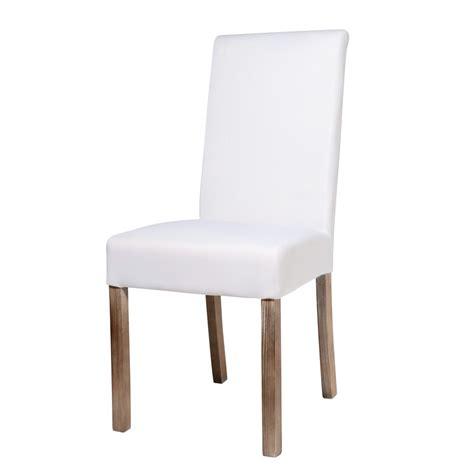 chaise 224 housser en tissu et bois blanche margaux maisons du monde