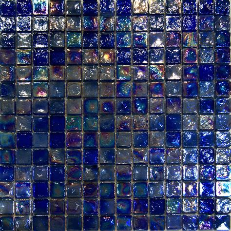 sle blue iridescent glass mosaic tile kitchen