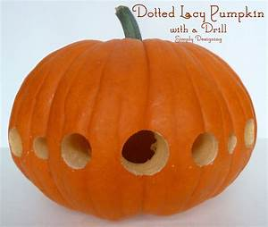 Dotted, Lacy, Carved, Pumpkin, With, A, Drill