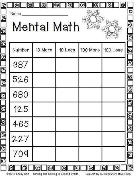 Mental Math For Second Grade Freebie  Math  Grade 2  Nbt14  Place Value, Skip Count
