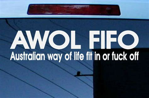 mm funny aussie custom car stickers awol fit