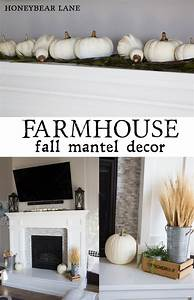 Fall Mantel Decor - HoneyBear Lane