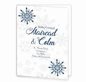 Snowflake wedding mass booklet cover loving invitations for Wedding invitations and mass booklets