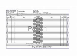 Circuit breaker panel schedule template pictures to pin on for Electrical panel schedule software