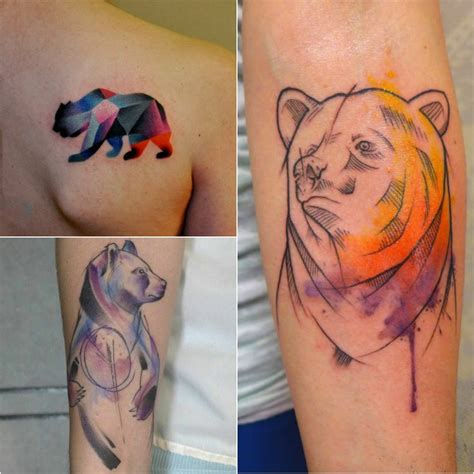 bear tattoo design  meanings strength courage
