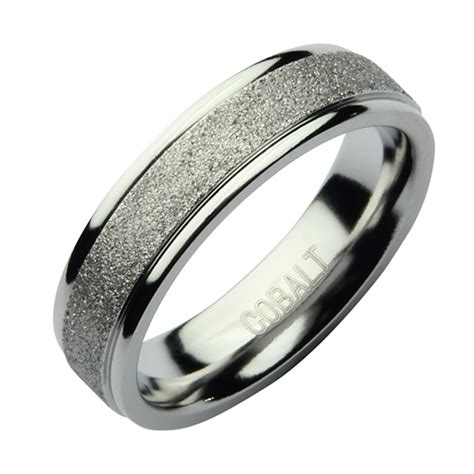 6mm cobalt sparkle wedding ring band cobalt rings at elma uk jewellery