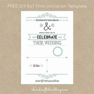 free mint vintage style invitation template digital With digital wedding invitation templates free download