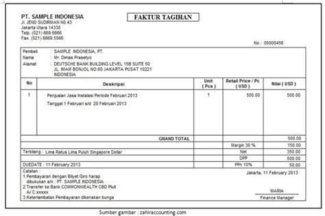 Contoh Invoice Penagihan by 10 Contoh Invoice Atau Faktur Tagihan Jasa Barang