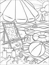 Coloring Beach Crayola Pages Summer Adult Sheets Fun Printable Sommer Ausmalbilder Books Bilder Ausmalen Train Visit Cool Zum Saying sketch template