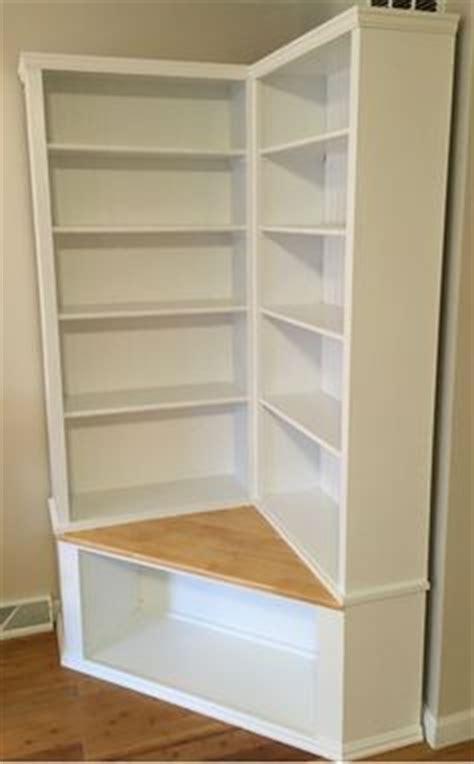 custom  shabby chic corner bookcase  seat