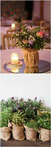 Deko Für Hochzeitstisch : diy con tela de saco jard n de hadas pinterest hochzeit deko hochzeit floristik und tischdeko ~ Markanthonyermac.com Haus und Dekorationen