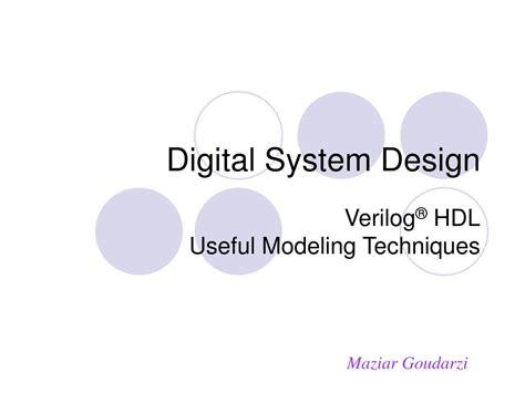 digital system design ppt digital system design powerpoint presentation id