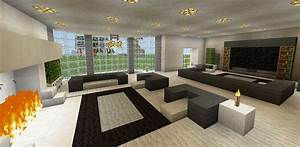 Minecraft Family Living Room and Fireplace Couch Chair TV ...