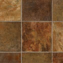 shop tarkett 12 ft w dark rust tile low gloss finish sheet vinyl at lowes com bathroom tiles
