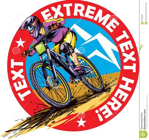 Modified Bike Logos by Mtb Rider Stock Illustrations 284 Mtb Rider Stock