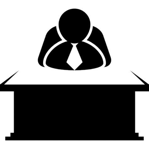 icones de bureau chef assis derrière un bureau télécharger icons gratuitement