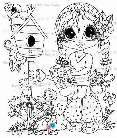 Coloring Baldy Sherri Bestie Fun Summer Doll