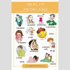 Health Problems  Kids  English, Learning English Online Y English Vocabulary Words