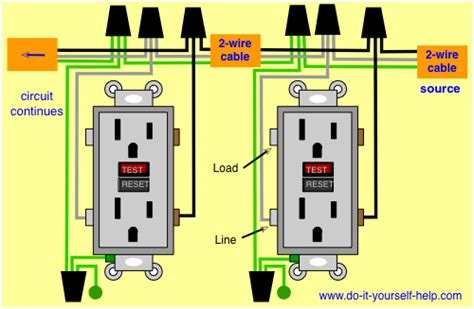 wiring diagram for two gfci for the home home
