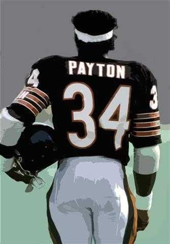 Rare Walter Payton #Chicago #Bears Art Lithograph Only 50 ...