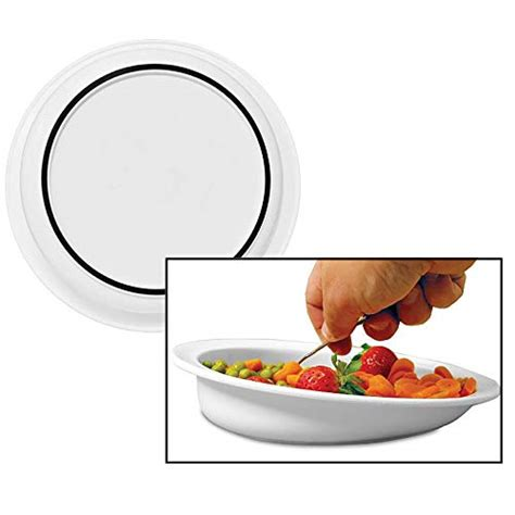 scoop plate elderly lo bowl hi dish plates sammons disabled bowls eating scooper preston non suction aid dinnerware guard divided