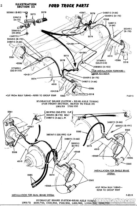 1970 Ford F600 Wiring Diagram by Ford Truck Technical Drawings And Schematics Section B