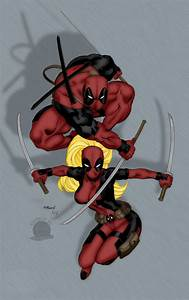 Lord and Lady Deadpool by Blackmoonrose13 on DeviantArt