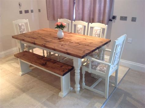 farmhouse  seater table  chairs modern house