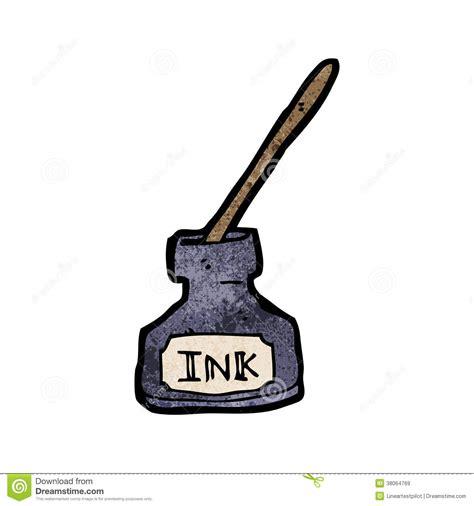 paper clip holder ink bottle stock vector illustration of