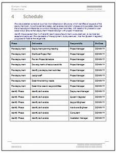 software deployment document template - deployment plan template software software templates