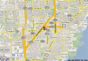 Kendall Map Miami Florida