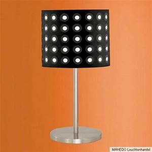 Lampe Schwarz Weiß : tischleuchte tischlampe schirm lampe edi light 60w e27 retro schwarz wei punkte ebay ~ Frokenaadalensverden.com Haus und Dekorationen