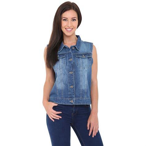 light denim jacket womens womens light blue denim jeans jacket sleeveless vest
