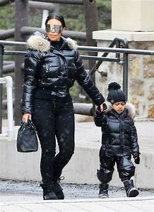 North West and Kim Kardashianu0026#39;s Matching Ski Outfits Are Adorable   WhoWhatWear