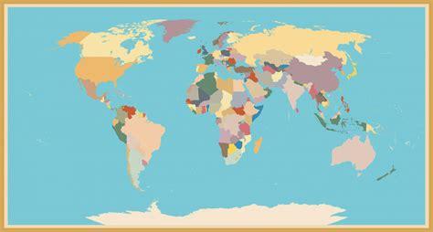 A Stylish Vintage Blind World Map - Custom Wallpaper
