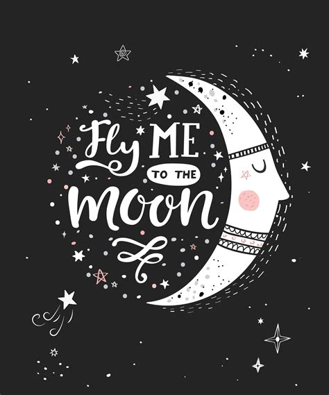 fly    moon poster   vectors