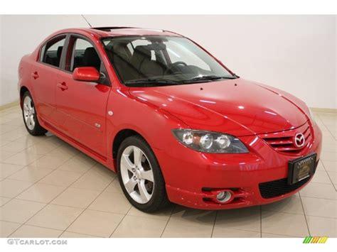 2005 Velocity Red Mica Mazda Mazda3 S Sedan #51670067