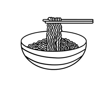 bowl  noodles coloring page coloringcrewcom