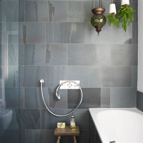 Slate Tile Bathroom Designs by Grey Tile Bathroom Ideas Home Garden Design
