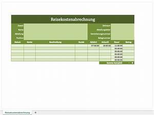 Reisekosten Berechnen : reisekostenabrechnung als excel vorlage excel vorlagen ~ Themetempest.com Abrechnung