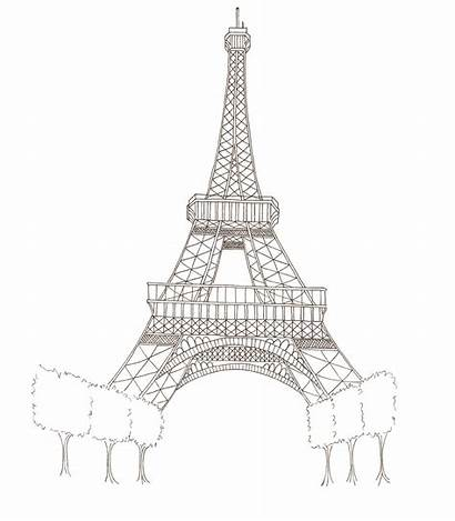 Eiffel Tower Easy Torre Transparent Sketch Drawing