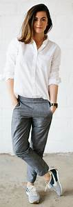 Best 25+ Grey trousers ideas on Pinterest | Womenu0026#39;s grey trousers Minimal style and Tomboy style