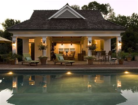 House Design Plans Pool by Farmhouse Pool House Guest Cottage Beautiful Homes