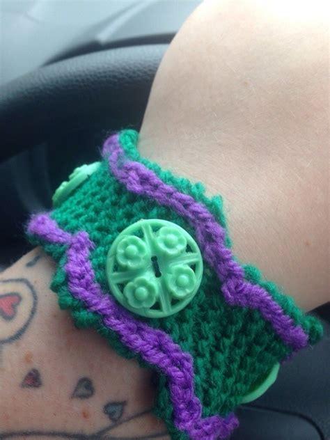 knitted bracelet pattern   stitch  knit  crochet